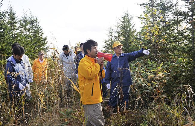 自然観察会の開催写真